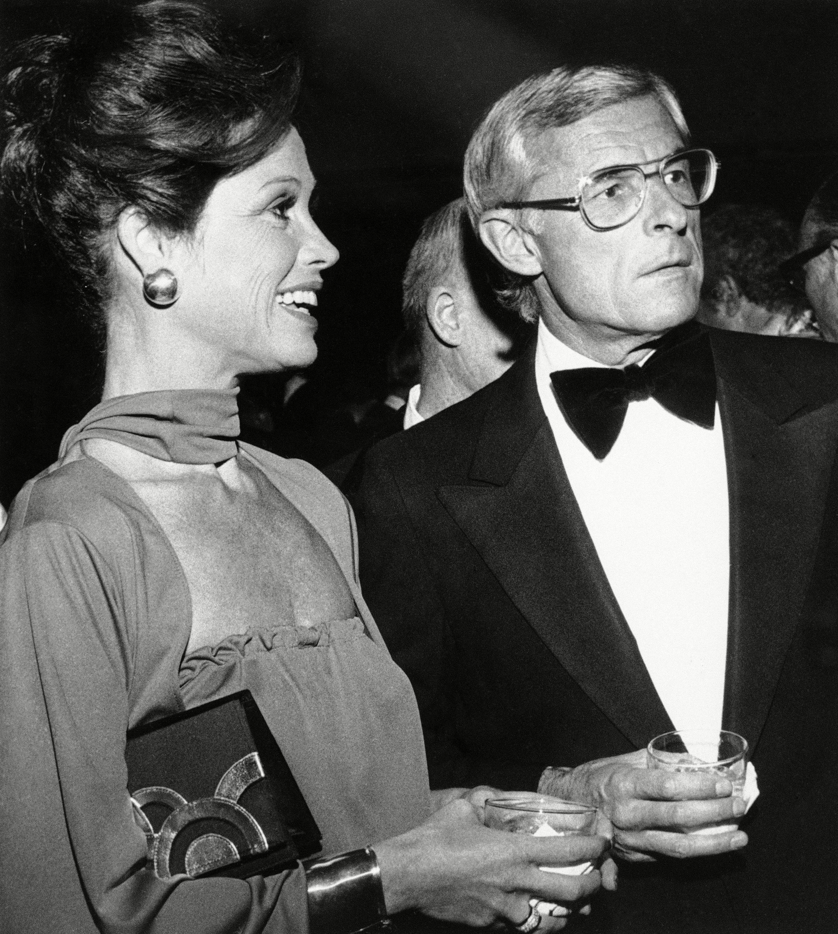 Mary Tyler Moore with Husband Grant Tinker, Los Angeles, USA