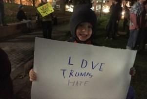 Denver protestor November 10, 2016
