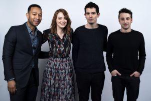John Legend, Emma Stone, Damien Chazelle and Justin Hurwitz, La La Land