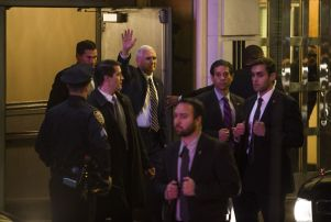 Mike Pence Hamilton, New York, USA - 18 Nov 2016