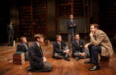 Jason Sudeikis and his students in 'Dead Poets Society.'