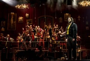 Josh Groban and the company of 'Natasha, Pierre & The Great Comet Of 1812.'