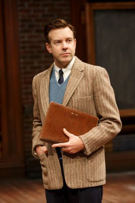 Jason Sudeikis in 'Dead Poets Society' off-Broadway.