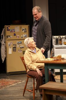 Jay O. Sanders and Roberta Maxwell in Richard Nelson's Women of a Certain Age at the Public Theater.
