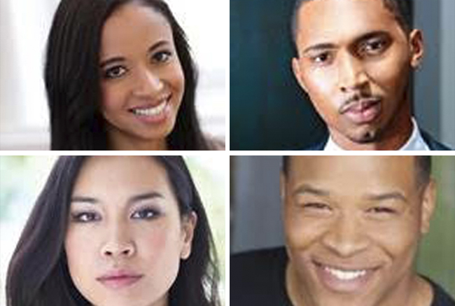 Top row, L-R: Alexa Adderley, Noel Braham; Bottom row L-R: Regina Chen, Ivan Ellis