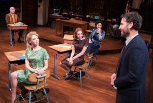Frank Wood, Maddie Corman, Julie Halston, Randy Graff and Josh Radnor in 'The Babylon Line.'