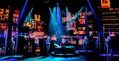 The cast of 'Dear Evan Hansen' at Broadway's Music Box Theatre.