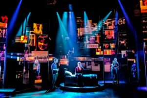 The cast of 'Dear Evan Hansen' at Broadway's Music Box Theatre.