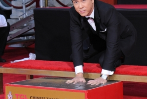 Donnie Yen. Donnie Yen Hand And Footprint Ceremony held at TCL Chinese Theater.
