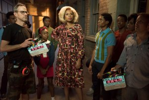 Shahadi Wright Joseph, Jennifer Hudson and Ephraim Sykes in 'Hairspray Live!'