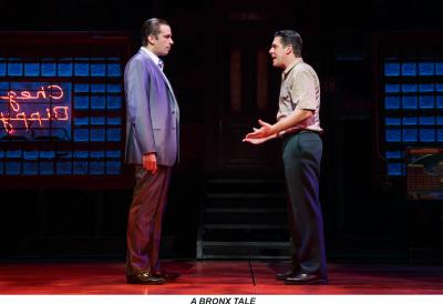 Nick Cordero, left, and Richard H. Blake in 'A Bronx Tale' on Broadway.