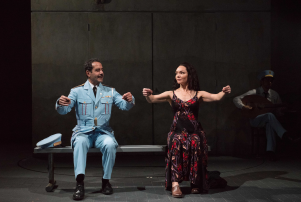 Tony Shalhoub and Katrina Lenk in 'The Band's Visit.'