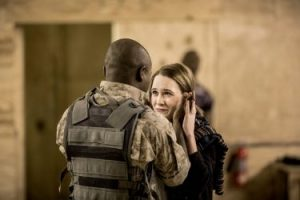 David Oyelowo as Othello and Rachel Brosnahan as Desdemona in 'Othello.'