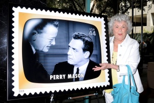 Mandatory Credit: Photo by Jim Smeal/BEI/BEI/Shutterstock (992427i) Barbara Hale Early TV Memories First-Class Commemorative Stamp Dedication Ceremony, Los Angeles - 11 Aug 2009