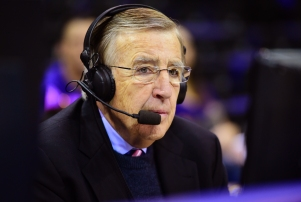 Baton Rouge, LA - January 30, 2016 - Pete Maravich Assembly Center: Brent Musburger during a regular season game (Photo by Phil Ellsworth / ESPN Images)