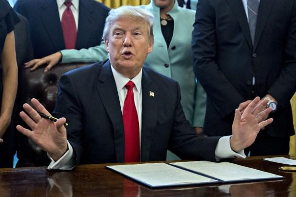 US President Donald Trump at the White House, Washington DC, USA - 30 Jan 2017