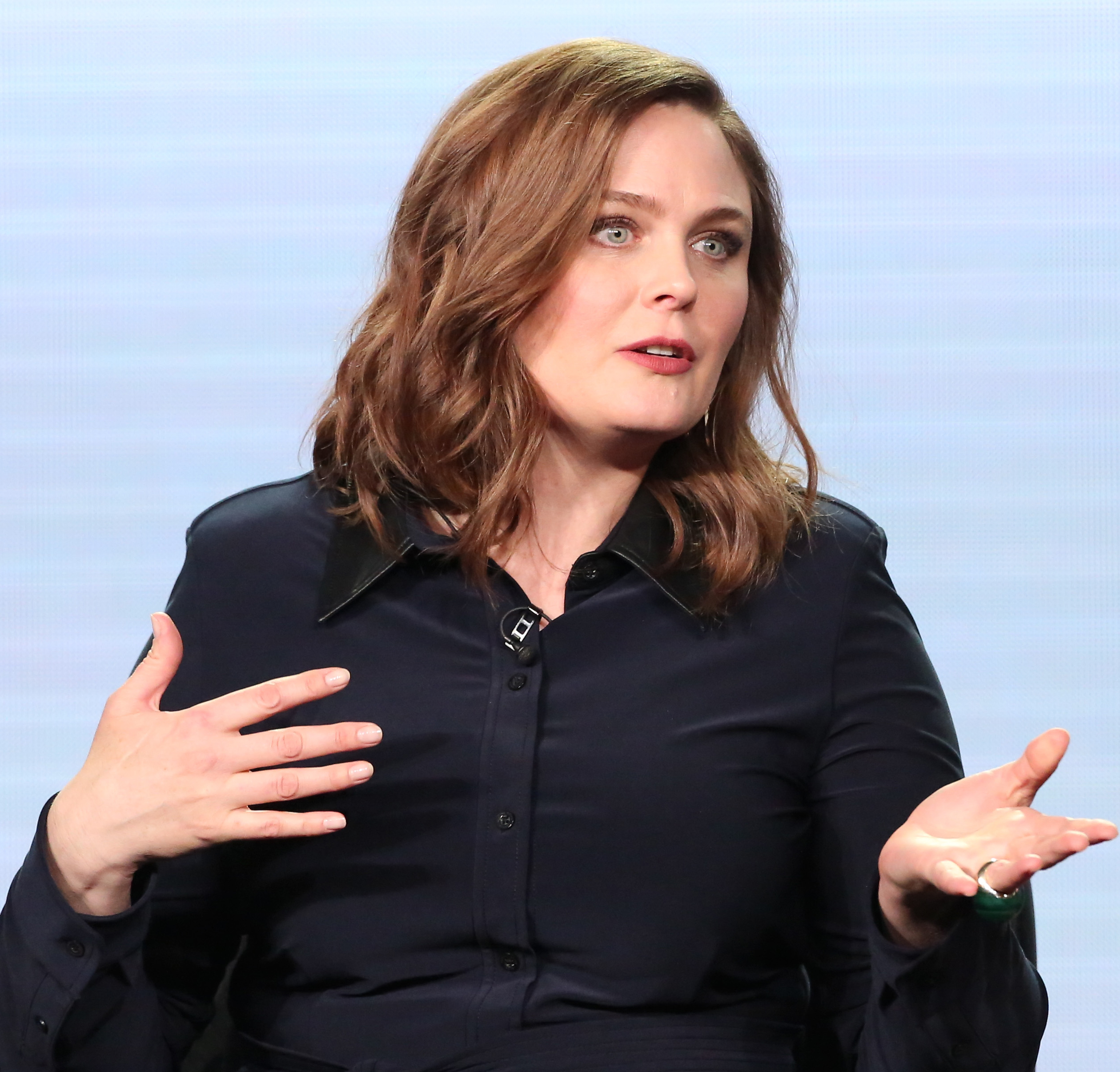 Mandatory Credit: Photo by Buchan/Variety/REX/Shutterstock (7775173aj) Emily Deschanel FOX's 'Bones' Panel, TCA Winter Press Tour, Day 7, Los Angeles, USA - 11 Jan 2017