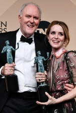 Mandatory Credit: Photo by Rob Latour/REX/Shutterstock (8137127bd) John Lithgow and Claire Foy The 23rd Annual Screen Actors Guild Awards, Press Room, Los Angeles, USA - 29 Jan 2017