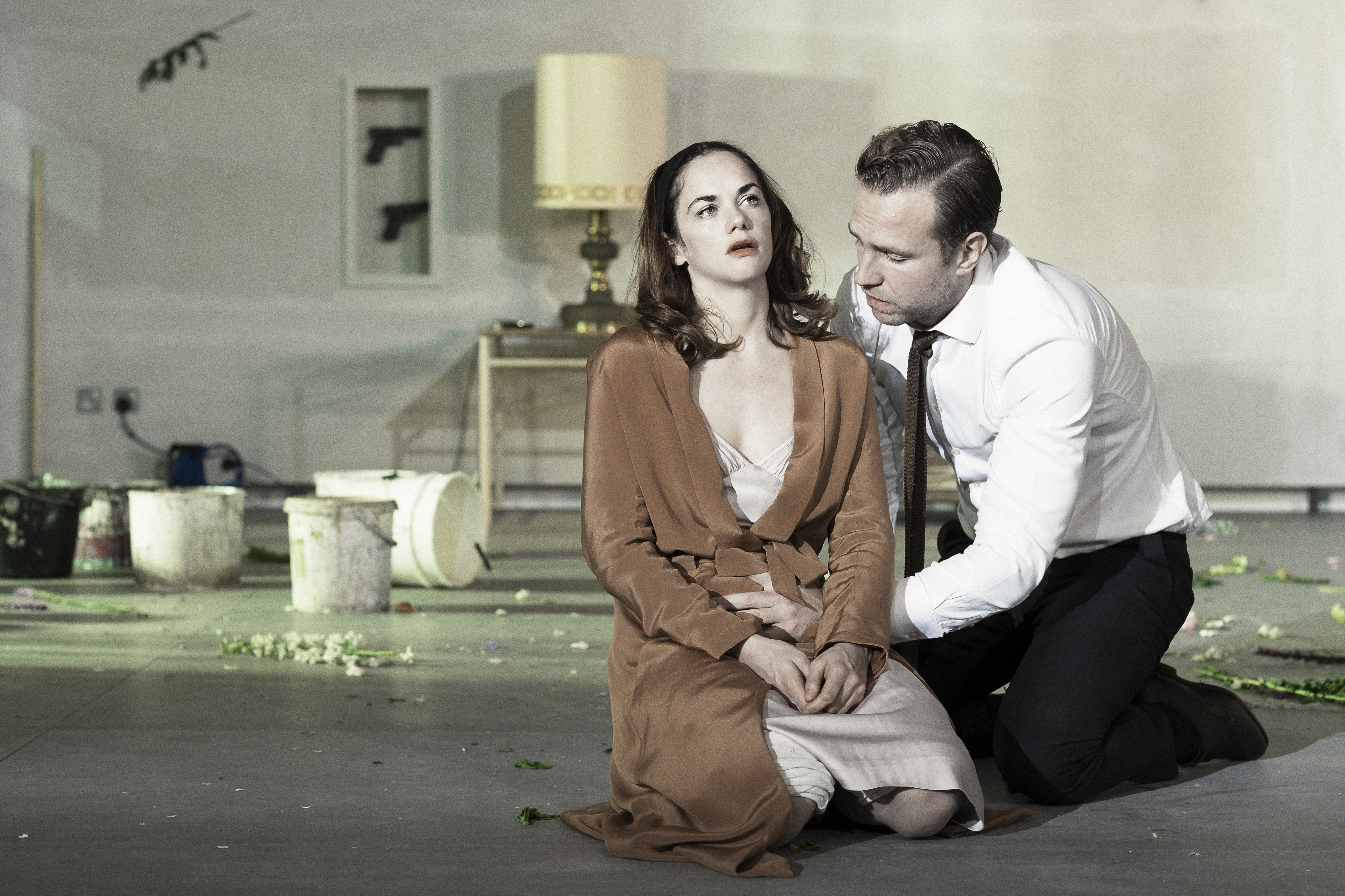 Ruth Wilson with Rafe Spall in Hedda Gabler