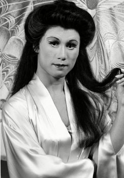 """B.D. Wong In costume and makeup as a Chinese opera singer in """"M. Butterfly"""" in 1988."""
