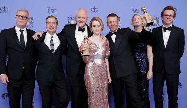 The Crown backstage at Golden Globes
