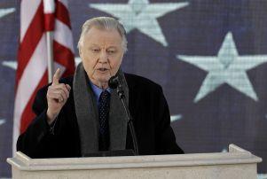 Jon Voight addressing the pre-Inauguration crowd in Washington.