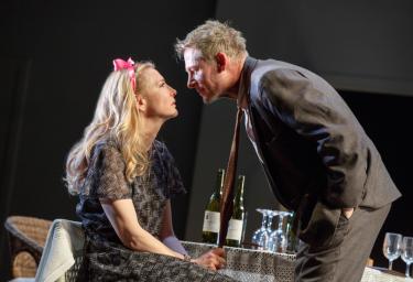 Cate Blanchett and Richard Roxburgh in 'Platonov' on Broadway.