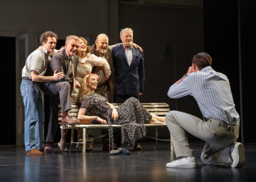 Cate Blanchett (center) and the company of 'Platonov,' on Broadway.