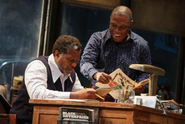 John Douglas Thompson and Michael Potts in 'Jitney.'