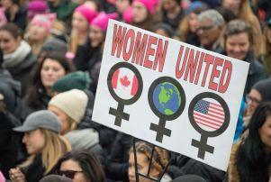 Women's solidarity march, Toronto, Canada - 21 Jan 2017