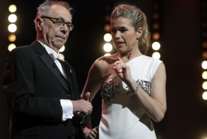 Host Anke Engelke and festival director Dieter Kosslick