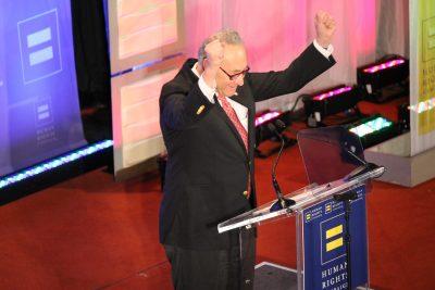 New York Senator Charles Schumer at the Human Rights Campaign gala.