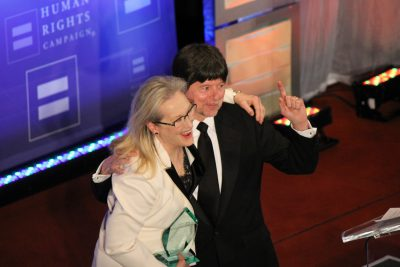 Meryl Streep and Ken Burns at the Human Rights Campaign Gala.