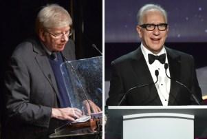 WGA East's Michael Winship, left, and WGA West's Howard Rodman