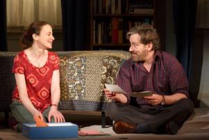 "Maria Dizzia and Jeremy Shamos in ""If I Forget."""
