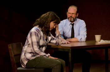 "Rebecca Pidgeon and Chris Bauer in ""The Penitent."""