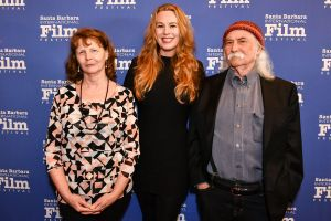 Susette Kelo, Courtney Moorehead and David Crosby
