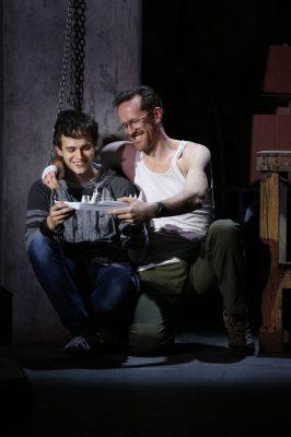 "Brandon Flynn and Jeffrey Denman in ""Kid Victory."""