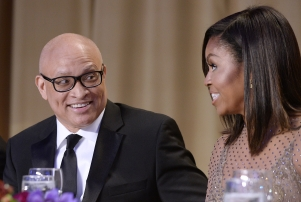 White House Correspondents' Dinner party scrapped Comedian Larry Wilmore speaks with First Lady Michelle Obama during the White House Correspondents' Association annual dinner on April 30, 2016 at the Washington Hilton hotel in Washington, DC, USA.This is President Obama's eighth and final White House Correspondents' Association dinner Photo by Olivier Douliery/ABACA