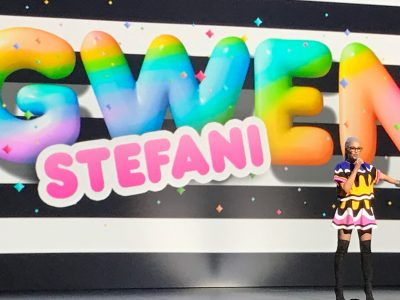 Gwen Stefani at the Nickelodeon up[front.