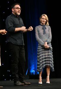 Colin Trevorrow and Naomi Watts