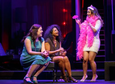 "Lindsay Mendez, Rebecca Naomi Jones and Sas Goldberg in ""Significant Other."""