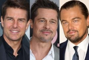 Tom Cruise Brad Pitt Leonardo DiCaprio