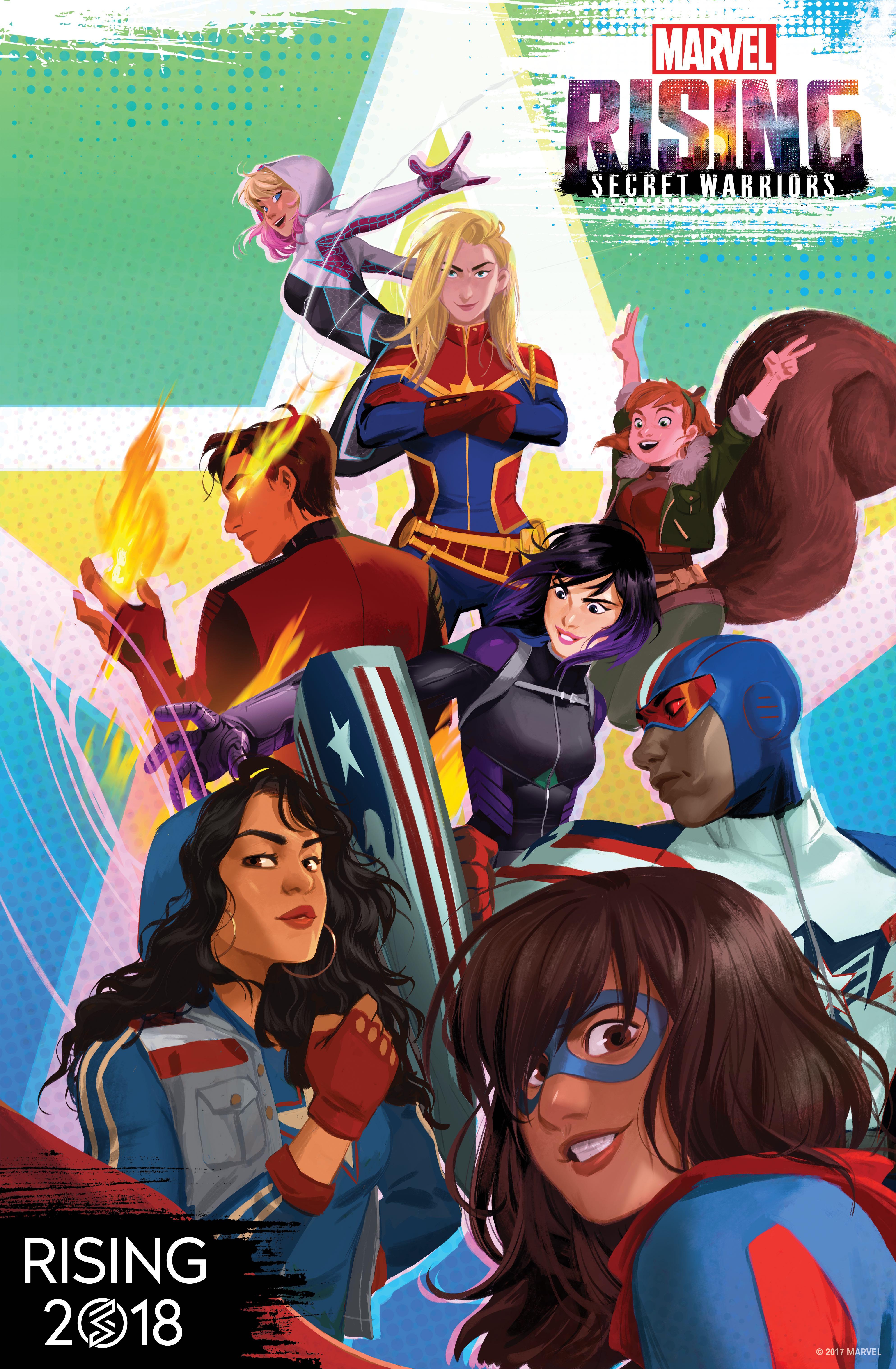 Marvel Rising   Lockjaw & Ms. Marvel Postcard   Zazzle.com
