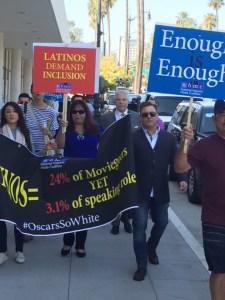 National Hispanic Media Coalition Protest