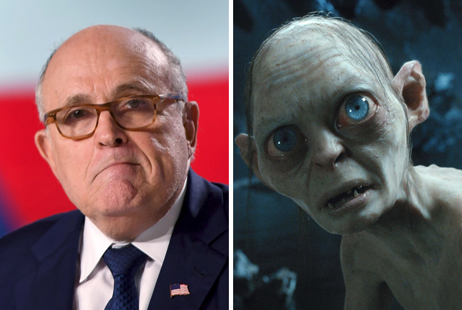 "Rudy Giuliani's ""Self-Contradictory Statements"" On Cohen Get The Smeagol-Gollum Treatment On 'The Late Show'"