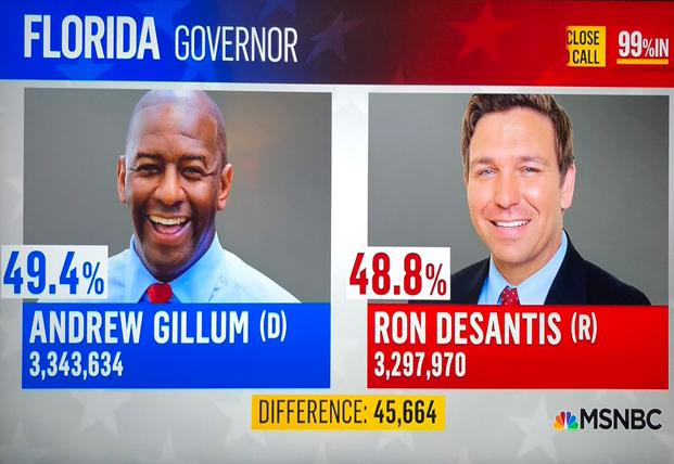 MSNBC Florida Governor Mistake