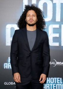 Mandatory Credit: Photo by David Buchan/REX/Shutterstock (9686069as) Ramses Jimenez 'Hotel Artemis' film premiere, Los Angeles, USA - 19 May 2018