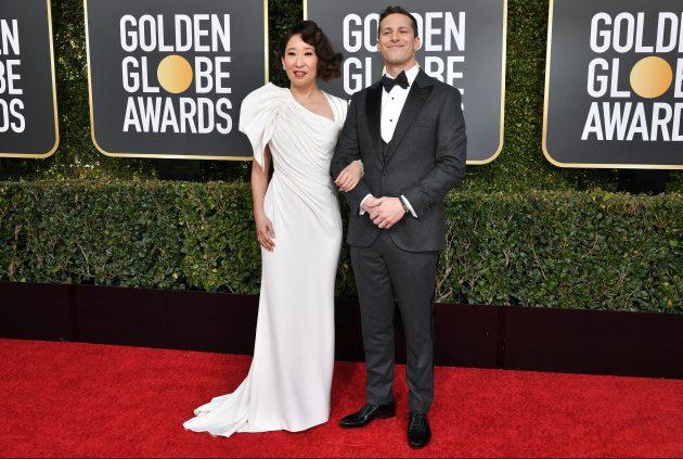 Sandra Oh Andy Samberg Golden Globes