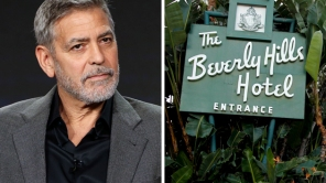 George Clooney Beverly Hills Hotel